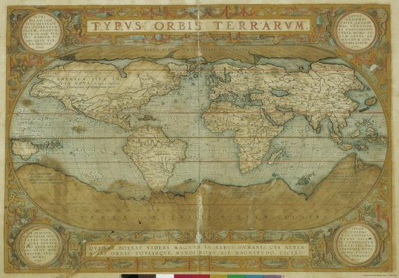 Geschenkpapier mit alter Weltkarte - Signum Firenze