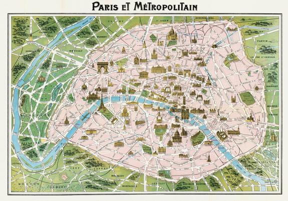 Cartina Geografica Di Parigi.Mappa Di Parigi Carte Geografiche Signum Firenze