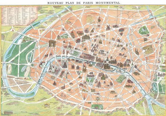Firenze Cartina Geografica.Parigi Monumentale Carte Geografiche Vedute Signum Firenze