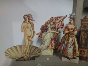 """Three different silhouettes - 1st group, the hour and the venus taken from the famous painting """"the birth of Venus"""" by Sandro Botticelli and """"the singer"""""""