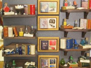 Mini librerías con iman, forma de caja y decoración