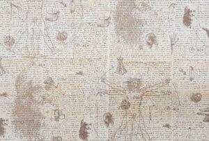 Dekoratives italienisches Geschenkpapier Leonardo da Vinci