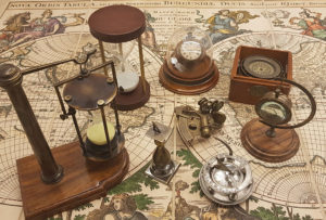 Watches, clocks, measurement tools, sundials and hourglasses