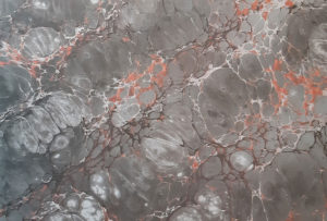 Reproduction of a marbled paper