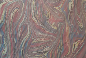 Reproduction of a marbled and hand combed paper
