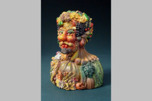 Hand painted statue Autumn by Arcimboldo