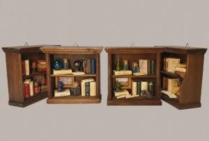 Mini Wooden Bookdisplays Cases