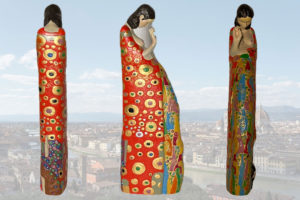Handpainted statue The hope II by Gustave Klimt