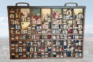 "Maxi mini bookshelf ""Original typographic drawer"""