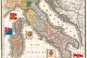 Carta da regalo raffigurante l'italia