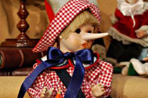 Pinocchio bugiardo somaro rosso