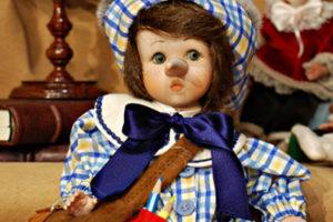 Pinocchio bugiardo somaro giallo e celeste