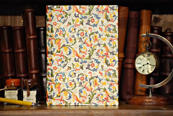 Libro firme o libro da disegno con carta fiorentina, rossa