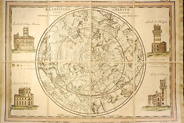 Planisfero celeste settentrionale
