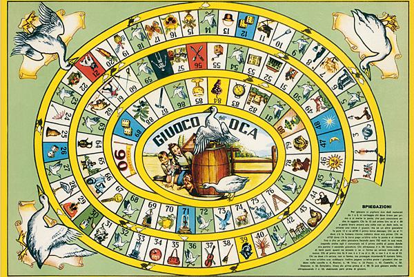 Carta regalo 50x70 gioco dell 39 oca vintage poster signum for Gioco dell oca alcolico da stampare
