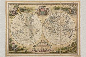 Mappamondo Antico Diviso nell'uno e nell'altro Continente di G.M. Cassini (1788)