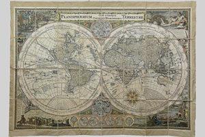 Planisphaerium Terresrtre Cum Utroque Coelesti Hemisphaerio di ignoto (XVII secolo circa)