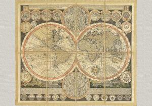 Planisphaerium Terrestre di A. F. Zurner (1679-1742)