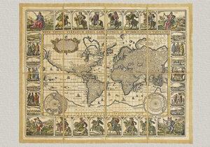 Nova Totius Terrarum Orbis Geographica ac Hydrographica Tabula di Piscator (piccola)