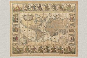 Nova Totius Terrarum Orbis Geographica ac Hydrographica Tabula di Piscator del 1656 (grande)