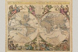 Nova Orbis Tabula ad Usum Serenissimi Burgundiae Ducis di H. Jaillot (grande)