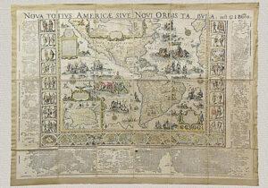 Nova Totius Americæ Sive Novi Orbis Tabula di G. Blaeu (1669)