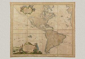 Totius Americae Septentrionalis et Meridionalis Nuovissima Repræsentatio di Iohannes Baptista Homann del '600