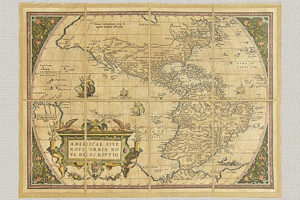 Americae Sive Novi Orbis Tabula di A. Ortelio (XVI secolo)