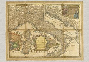 Italia cum Stationibus fuis et viis Publicis Delineata di Cantelli da Vignola (XVIII secolo)