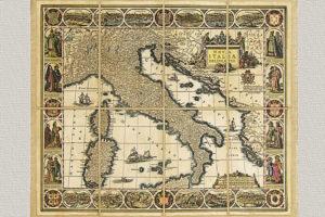 Nova Italiae Delineatio di Iodocus Hondius (grande)
