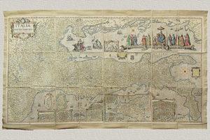 Italia di Matteo Greuter - revista et argumetata di molti luoghi principali (1657)