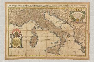 L'Italie Divisée Suivant l'Estendue de Toutes ses Souverainetés di Sanson (1672)