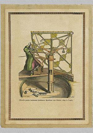 Astrolabio girevole di Hevel, 1659