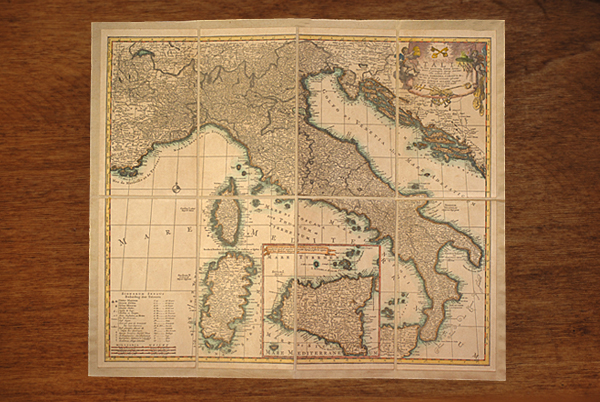 Italia in sous Quoscunq Status Divisa di Allard 1680